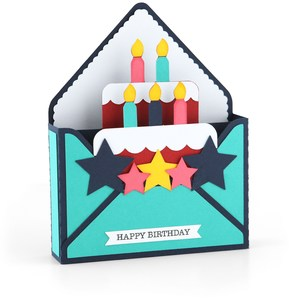 box card envelope birthday cake boy