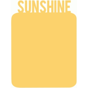 sunshine 3x4 journaling card