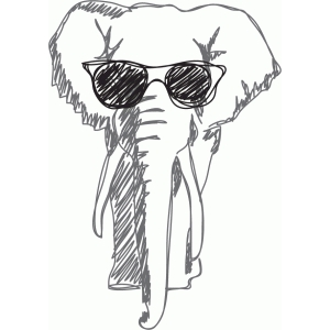 cool elephant sketch