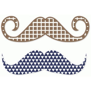 dapper dan patterned mustaches