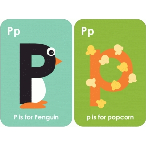 letter 'p' flashcard