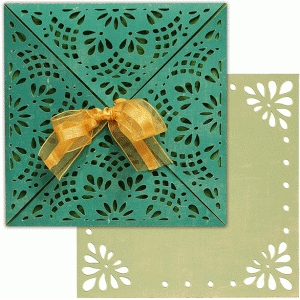 card wrap set: floral lattice lace