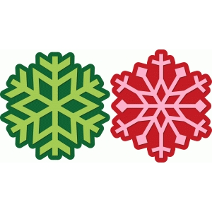 2 snowflakes with shadow
