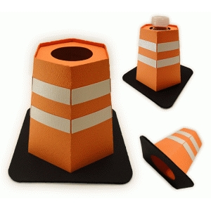3d hazard cone small drink cover