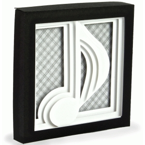 music note – 3d shadow box series