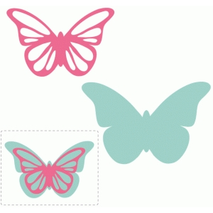 pretty butterfly layered embellishment
