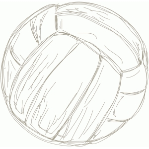 volleyball sketch