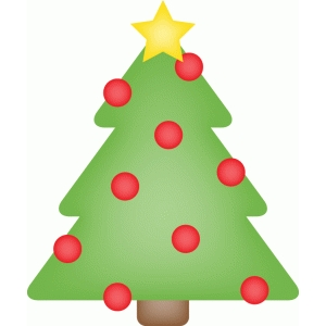 calendar icon - christmas tree