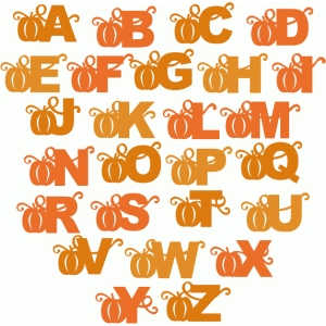 pumpkin block alphabet - uppercase
