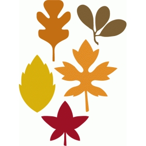5 autumn leaves