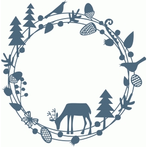 woodland deer papercut garland
