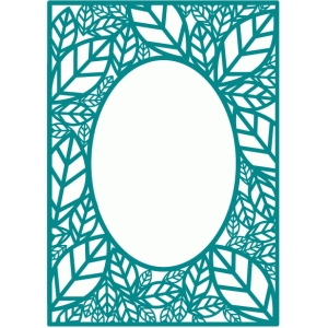 leaf frame background / card panel