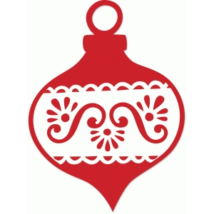 scalloped eyelet ornament