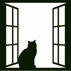 Silhouette design store view design 72957 cat window for Types of window shapes