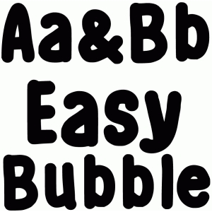 easy bubble font