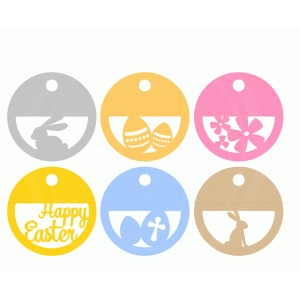 easter circle labels set