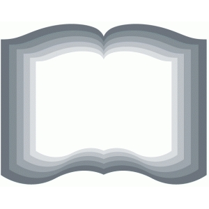 nested open book shapes
