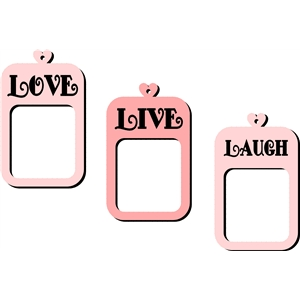 live love laugh photo frames set
