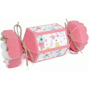 scalloped hexagon candy box