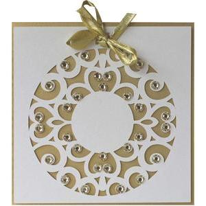 5x5 christmas wreath layer card