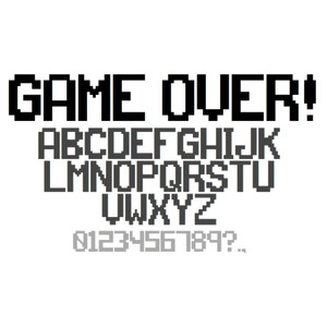 game over! font