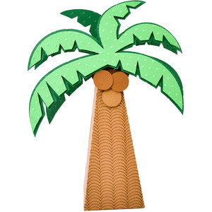 coconut tree box