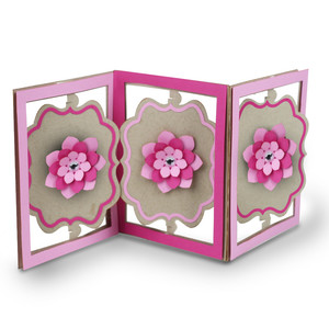 accordion card sweet flower