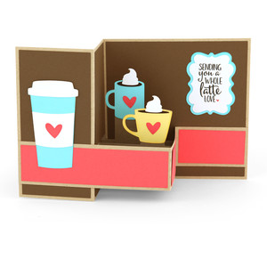 pop up box card coffee