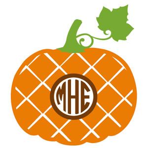 pumpkin plaid monogram frame