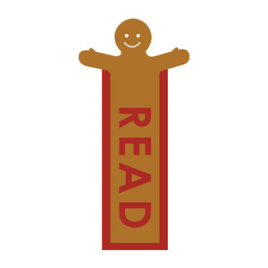 gingerbread bookmark: read