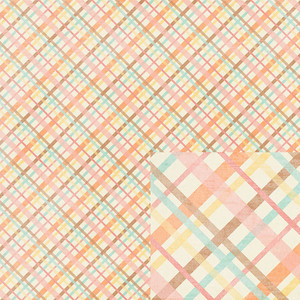 plaid valentine paper