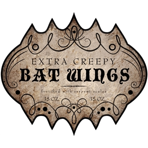 bat wings label