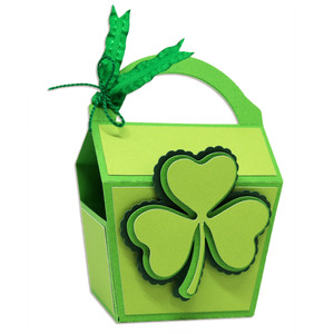 shamrock favor box