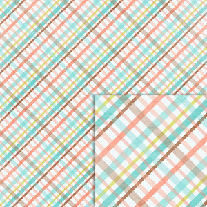 spring plaid background paper