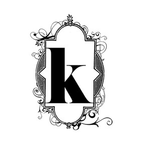flourish k monogram