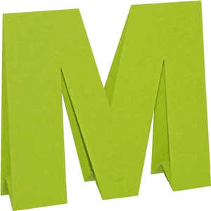 3d standing letters-m