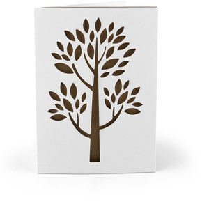 5x7 card ornate tree