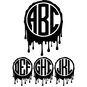 monogram bold basic - blood drip