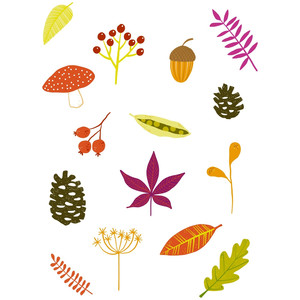 autumn fall nature stickers