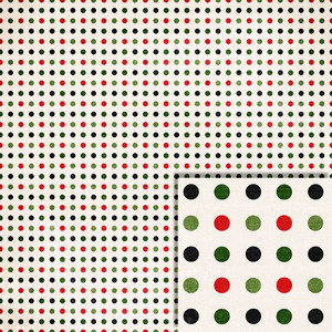 christmas polka dots background paper