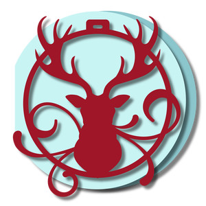 ornament card - stag head