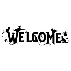 welcome cat sign