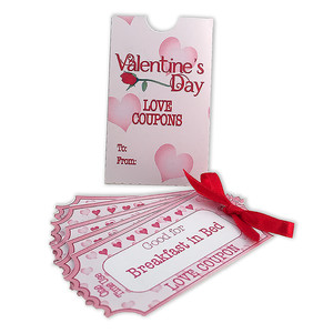 book of love coupons with sleeve
