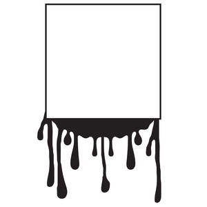 square paint drip frame