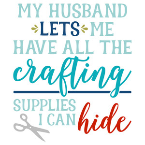 crafting supplies i can hide