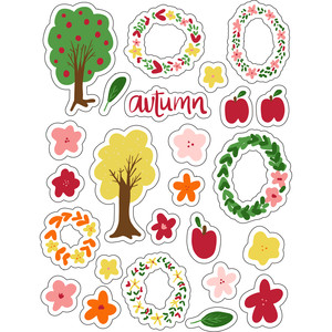 ml autumn and fall stickers