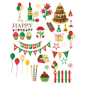 christmas birthday stickers