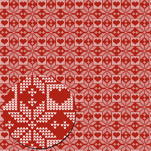 red christmas knitted pattern