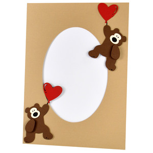 valentine teddy frame with stand