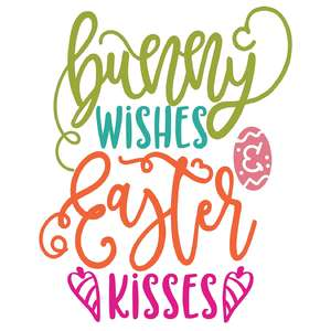 bunny wishes easter kisses